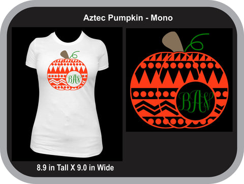 Aztec Monogram Pumpkin T-Shirt