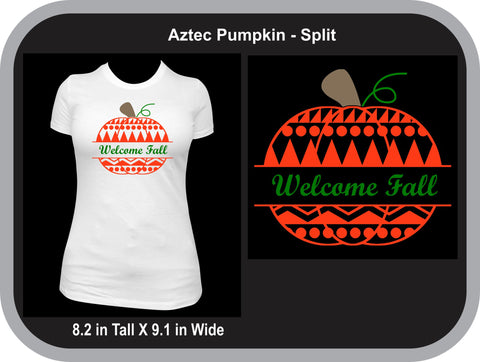 Aztec Split Pumpkin T-Shirt