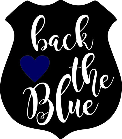 Back the Blue Decal - LEO support Decal