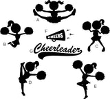 Cheerleader Monogram Decal Custom Colors