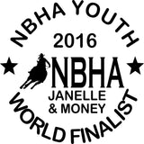 NBHA Youth World Finalist Decal Personalized