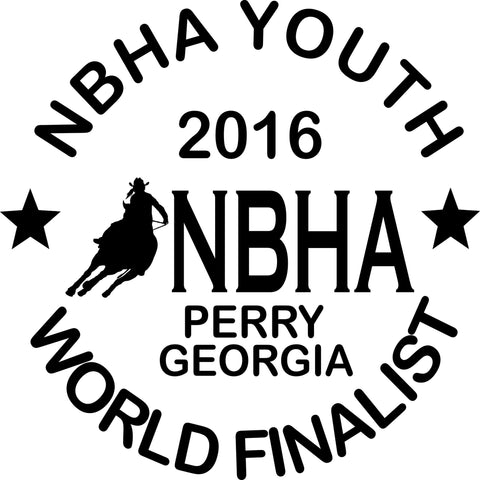 NBHA Youth World Finalist Decal