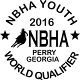 NBHA Youth World Qualifier Decal