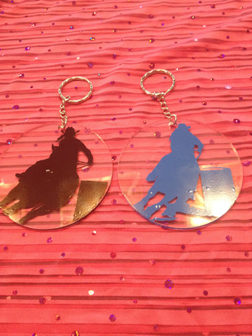 Custom Barrel Racer Key Chains