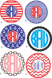 Custom Monogram Nautical Decal