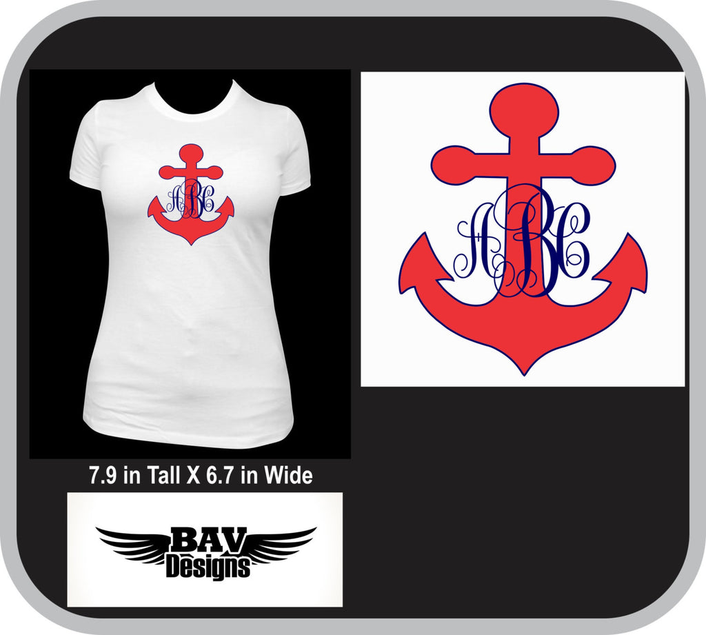 57f88cd2f Anchor Monogram Custom T-Shirt – BAV Designs15