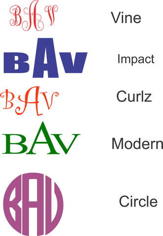 Back To School Custom Monogram Decal