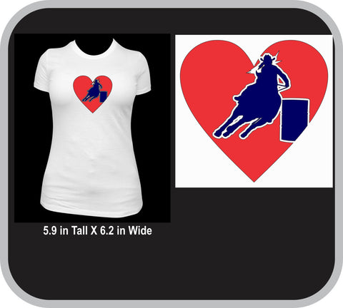 Barrel Racer Love T-Shirt Youth