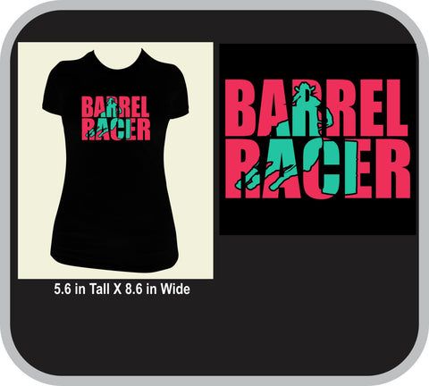 Barrel Racer Knockout Design Custom T-Shirt