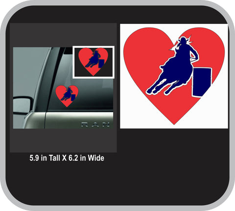 Barrel Racer Love Decal