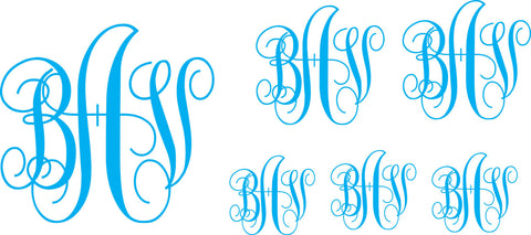 Vine Monogram Decal Set