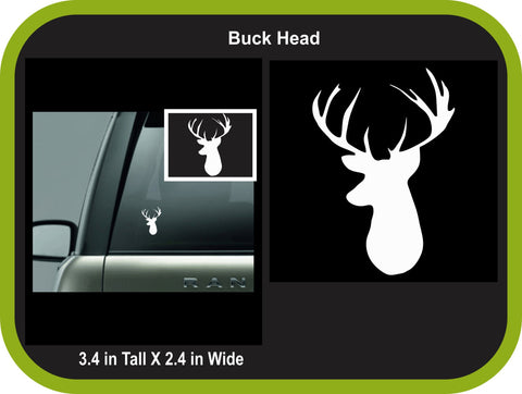 Buck Head Monogram Decal