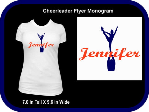 Cheerleader with Name Shirt