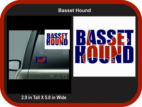 Basset Hound 2 color Decal