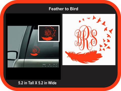 Feather to Birds Monogram Decal