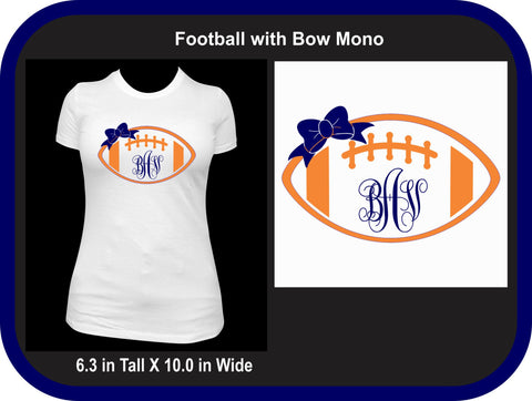 Football with Bow Monogram T-Shirt