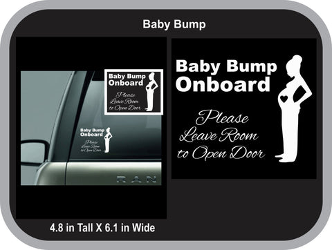 Baby Bump Onboard Decal