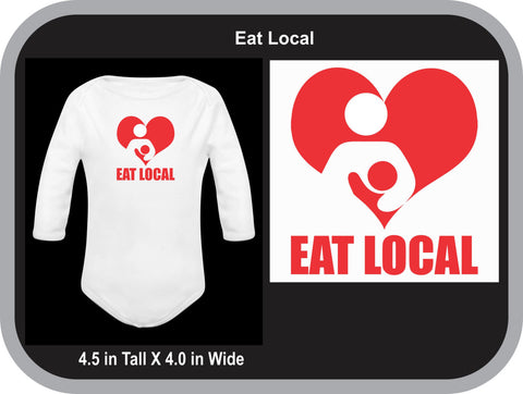 Eat Local Breastfeeding Onesie