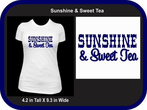 Sunshine and Sweet Tea Shirt, Custom Southern Belle Tshirt, Country Girl Shirt