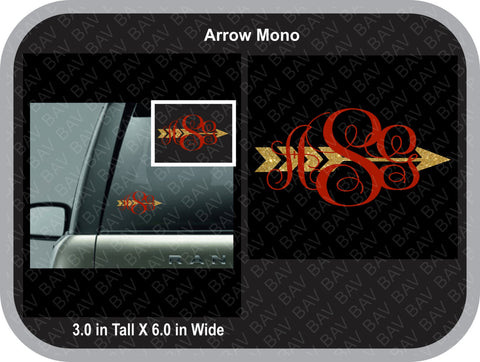 Arrow Monogram Decal