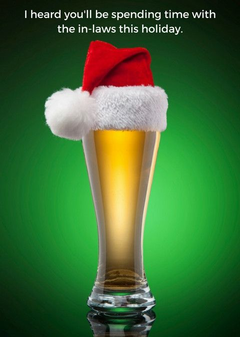 Christmas - Beer - Man Cards - Greeting Card - 1