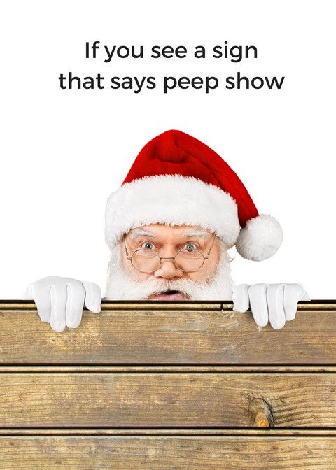 Christmas - Peep Show - Man Cards - Greeting Card - 1