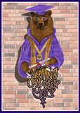 Graduation - All The Way Up Bear - Man Cards - Greeting Card - 6