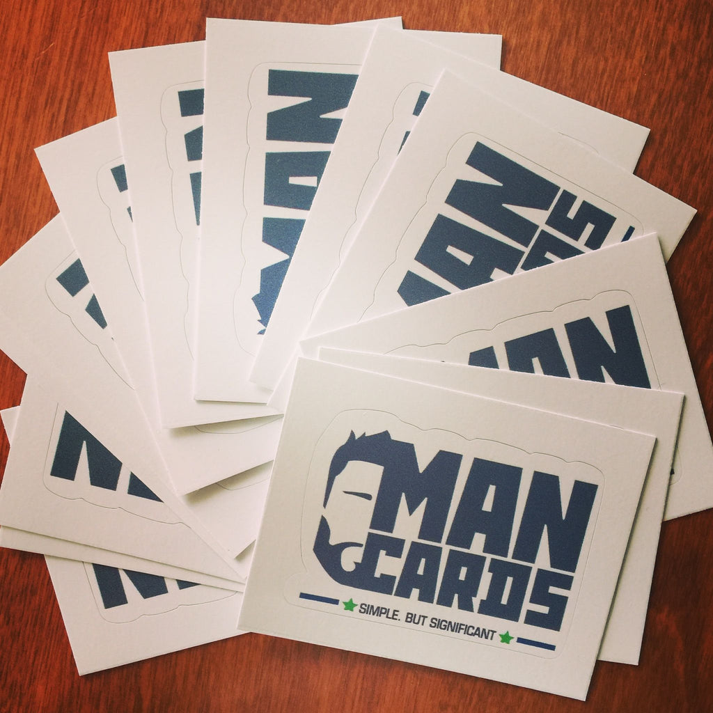 Man Cards - Removable Vinyl Sticker - Man Cards - Sticker