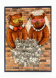 Wedding - Kanye Bears - Man Cards - Greeting Card - 4
