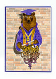 Graduation - All The Way Up Bear - Man Cards - Greeting Card - 4