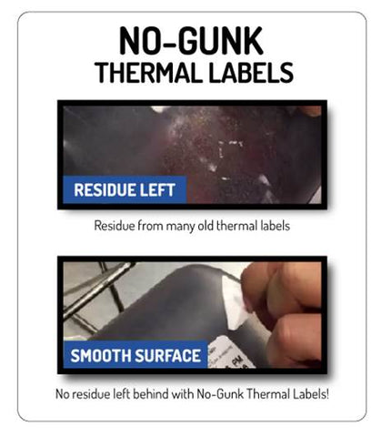 """No Gunk"" Thermal Date Labels"