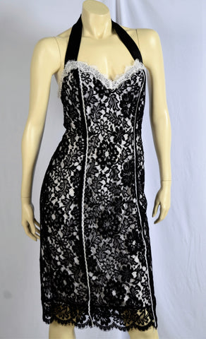 GERRY SHAW Black & White Vintage Style Dress and Bolaro