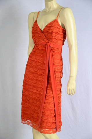 GARRY SHAW ORANGE LACE DRESS