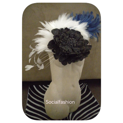 FASCINATORS black, royal blue & white