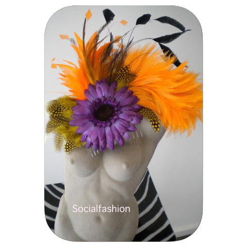 FASCINATOR orange, purple assorted