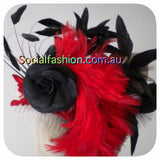 FASCINATOR red & black