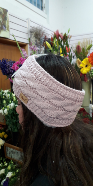 Knitted Headband - Pink