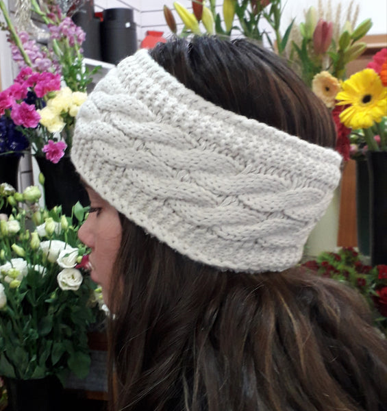 Knitted Headband - Cream