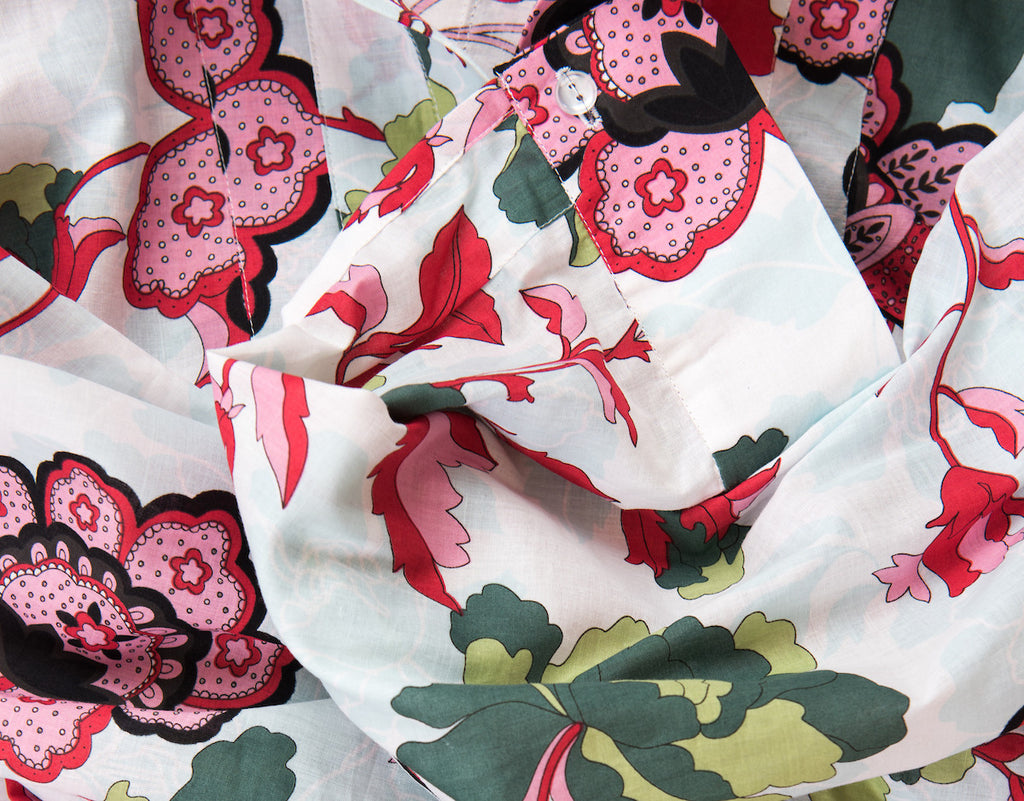BAUH designs cotton floral shirt dress.