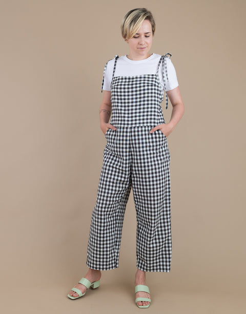 Odette Jumpsuit in Classic Gingham (Size M)