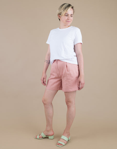 Zoe Shorts in Light Pink (Size 10)