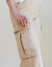 Linen Cargo Pants in Sand (Size 4)