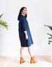 Raglan Sleeve Denim Shirt Dress