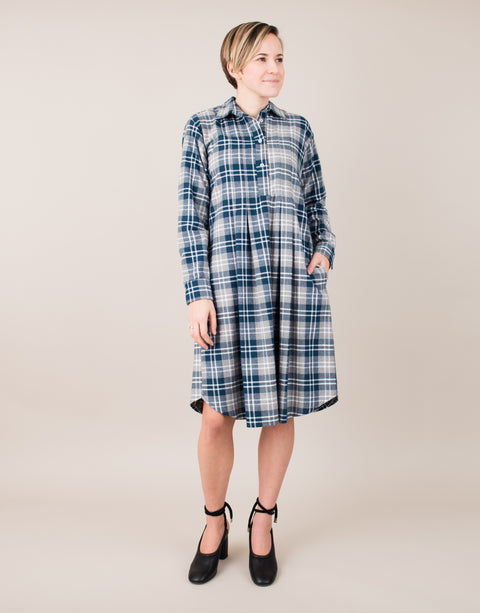 Rosine Dress in Blue/Gray
