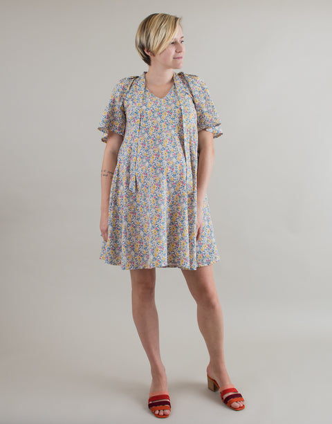 Liane Dress in Floral Cotton