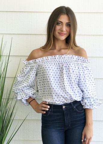 Blue Floral Blouse By Olivia Culpo