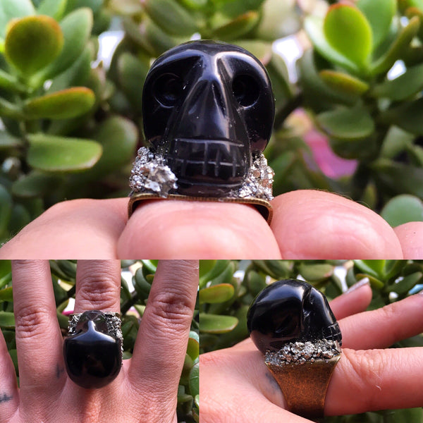 Crystal Skull Rings