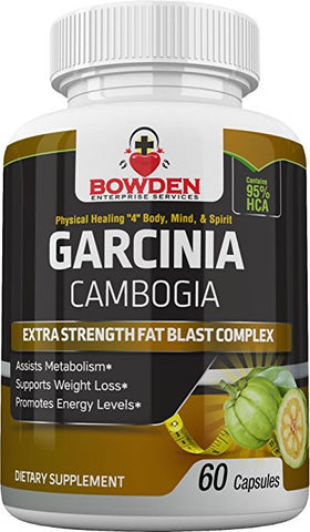 Pure 100% Garcinia Cambogia Complex Best Weight Loss Fat Burner Supplement Safe Effective Waist Shrink (60 Vegan Caps) 95% HCA Dr. Oz Natural Appetite Suppressant for Men & Women Prevents Weight Gain