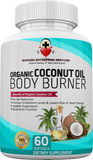 100% Organic Coconut Oil Body Burner (60 Caps) Weight, Thyroid, Cholesterol Maintenance, Skin, Hair, Nails, Fights Yeast, Bacteria & Fungus