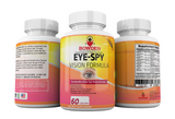 """EYE-SPY"" Vision Function Formula Including Lutein & Zeaxanthin for EYE HEALTH Immune System Boost Color Perception Vitamins & Minerals w/ B12 Bilberry"